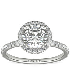 Blue Nile Studio Heiress Halo Diamond Engagement Ring in Platinum